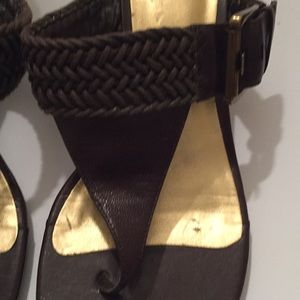 Alfani Shoes - Alfani heeled braided strap sandal size 6 1/2